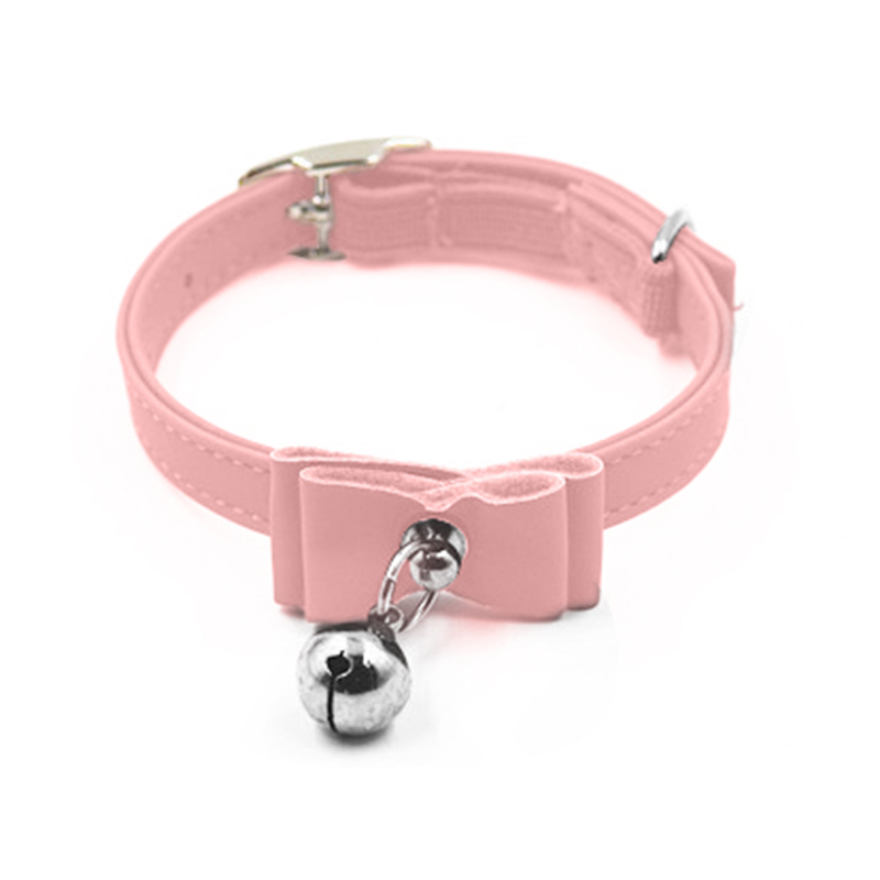 Adjustable Small Dog Bowknot Bell Collar Pet Puppy Cat Necklace Buckle Strap
