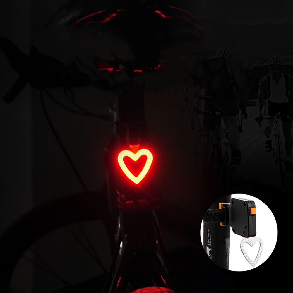USB Charging Night Riding LED Warning taillights Mountain Bike Lights Cycling Equipment Bike Accessories