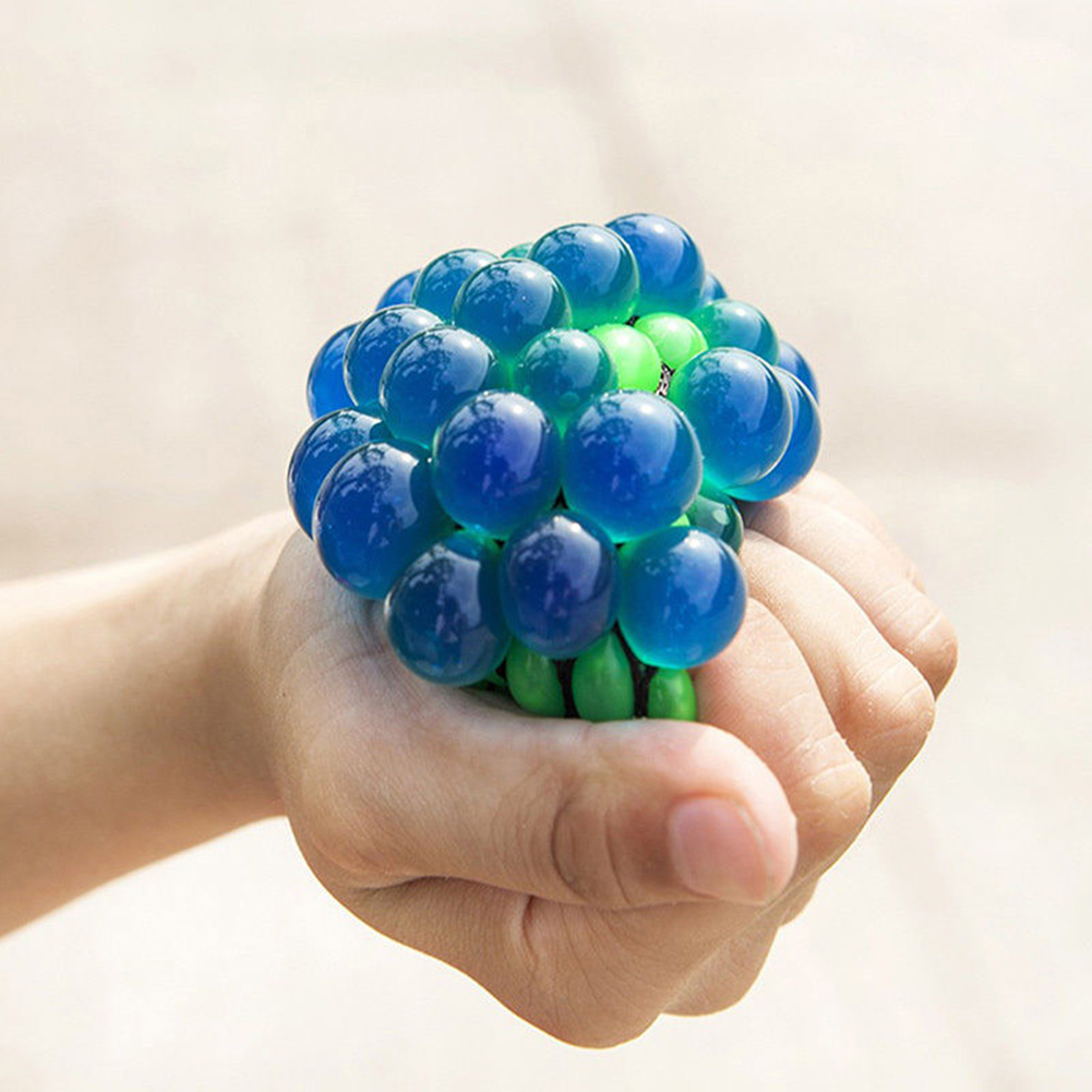 6CM Anti Stress Mesh Ball Face Reliever Grape Mood Squeeze Relief Toy