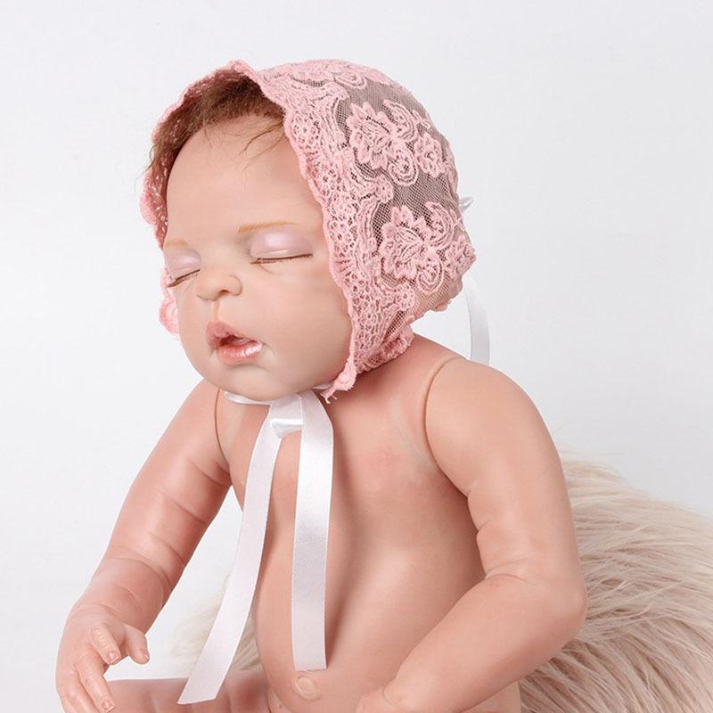 b477fa7cc10 ... Baby Infant Newborn Girls Kids Lace Floral Hat Cap Beanie Bonnet Hats  Photo Prop