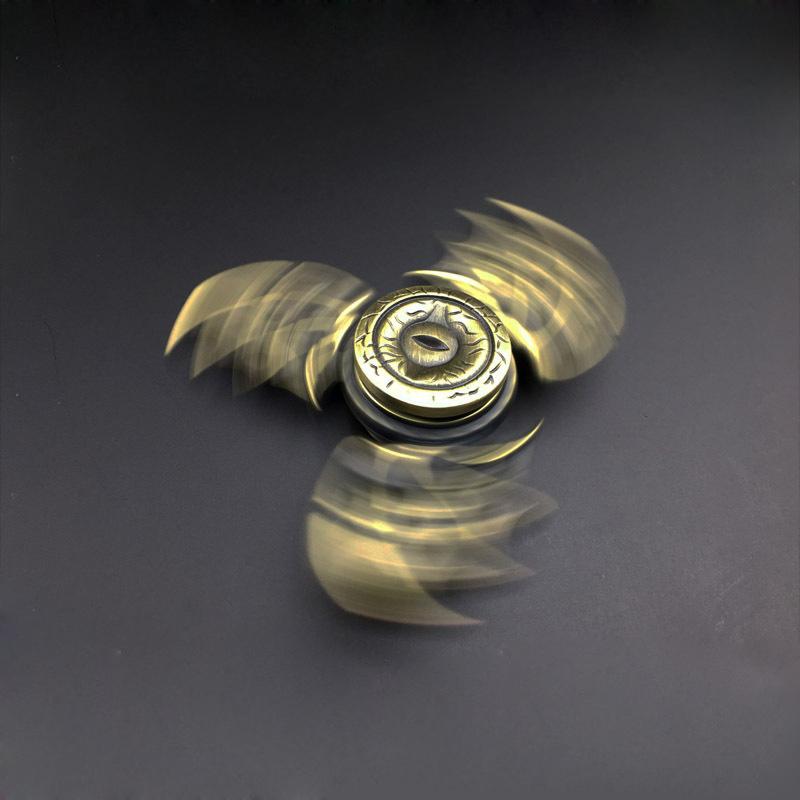 Wings Shaped EDC Hand Spinner Tri Fidget Finger Spin Stress ADHD Hand Focus Desk Toys