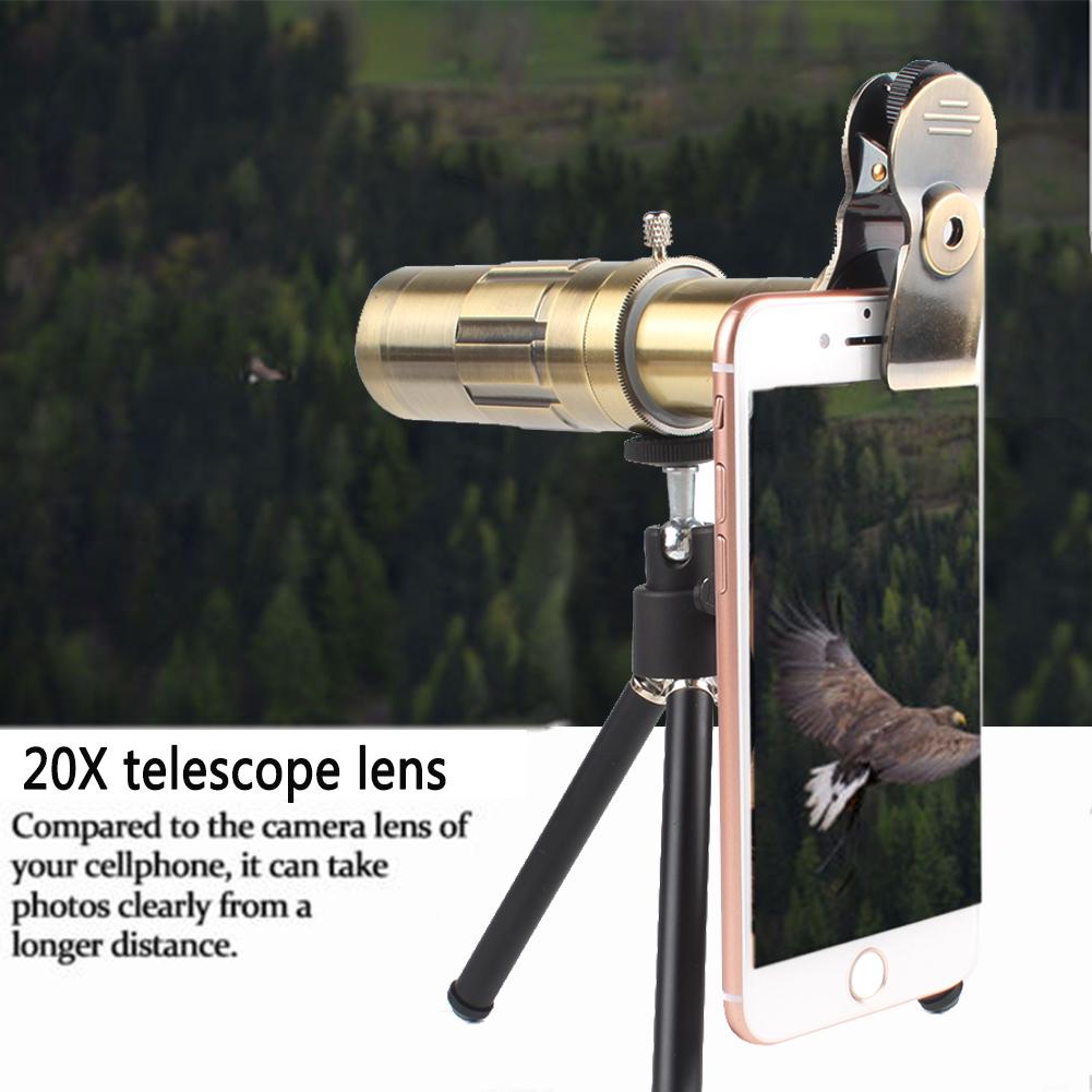 20X Telescope Camera Telephoto Lens Kit & Tripod For Smart Mobile Phones