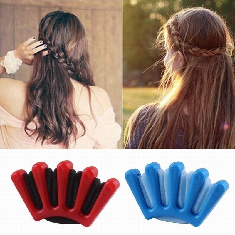 1pcs Fashion Wonder Sponge Hair Braider Twist Styling Braid Tool Holder Clip Diy