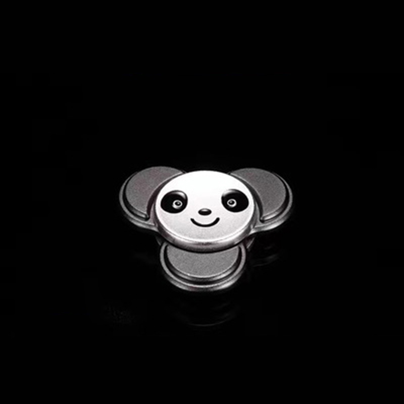 Panda Head Shaped EDC Hand Spinner Tri Finger Spin Stress ADHD Hand Focus Desk Toys