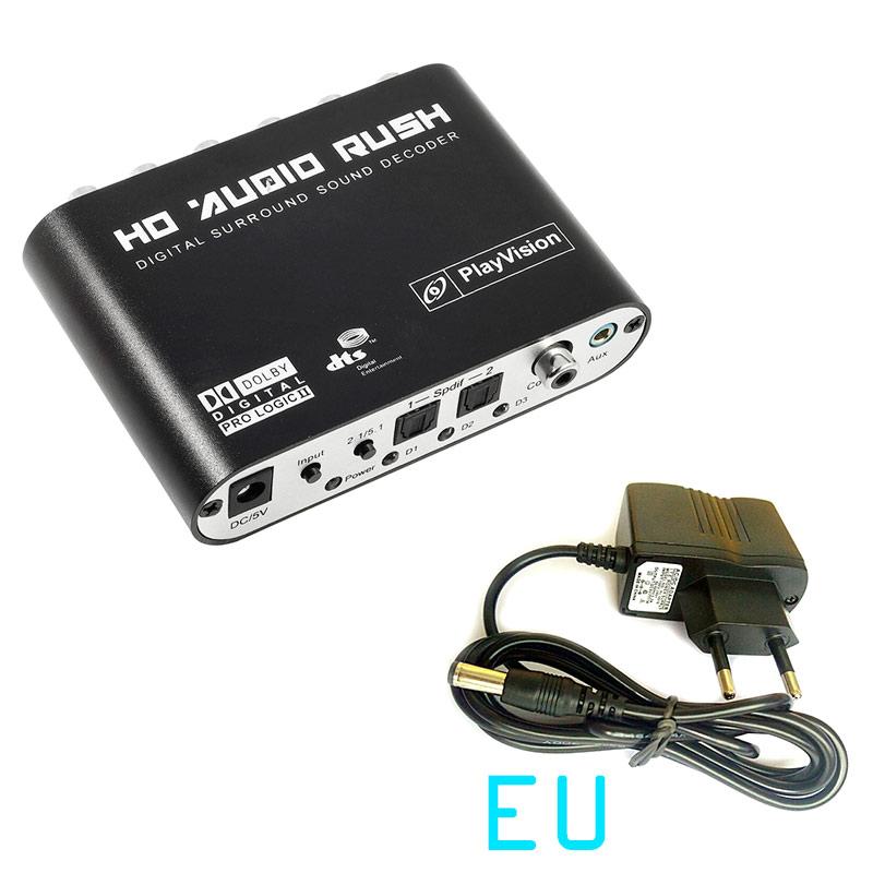AC3 DTS Digital to Analog Audio 5.1 2.1 CH Optical SPDIF Gear Sound Decoder