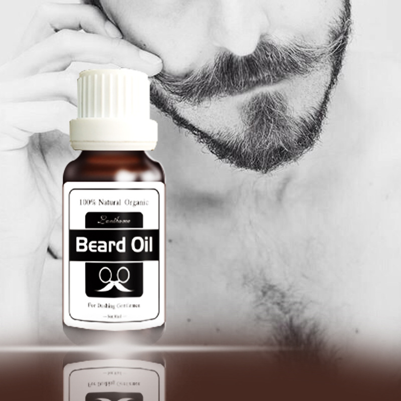 20ml Lanthome Natural Organic Beard Oil Leave-In Conditioner for Groomed Beard Growth Mustache and Women Eyelash Growth
