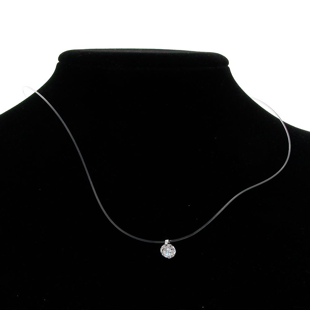 Creative Transparent Fish Line Diamond Crystal Rhinestone Zircon Choker Necklace Women Jewelry Accessories Gift
