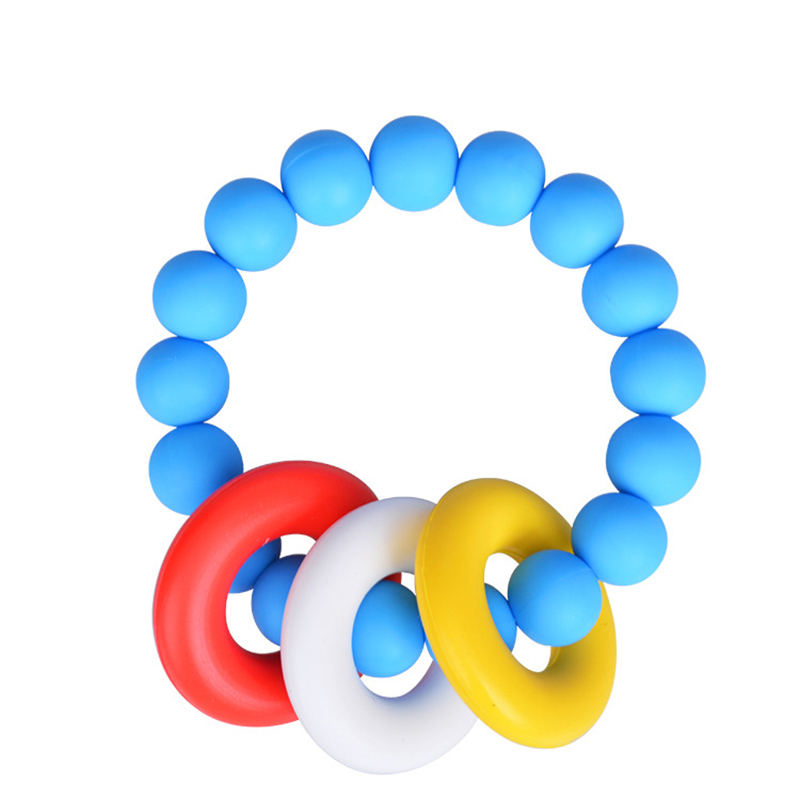 Silicone Chewable Teether Teething Bracelet Chew Beads Baby Nursing Jewelry