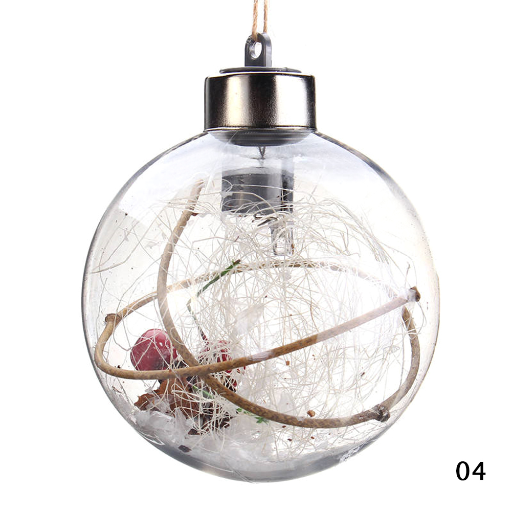Christmas Party Home Decoration Transparent Ball With Lamp Toys Props Children Gift
