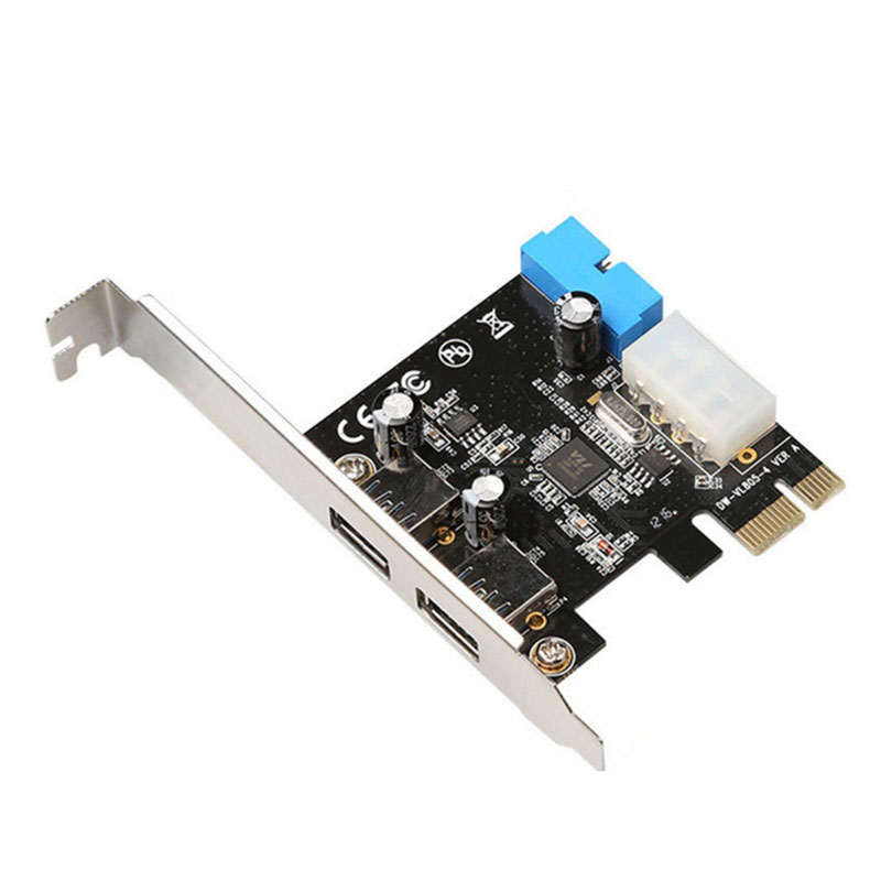 for Windows XP 32//64 Card Adapter With Front 19PIN Interface Windows 7 32//64 Yunir PCI-E To USB3.0 Expansion Windows8 Windows8.1 Supports Transfer Rates of up to 5 Gbps Windows10