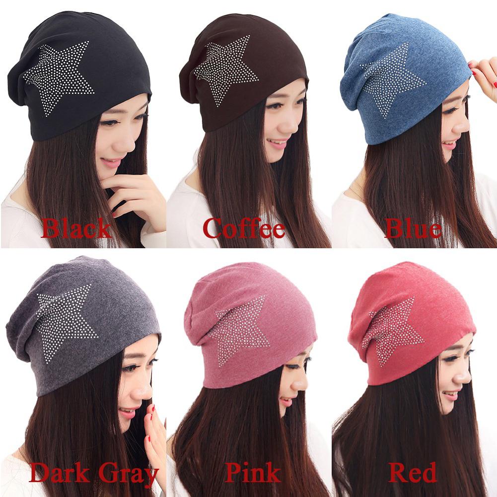 Fashion Autumn Fashion Knit Baggy Beanie Hat Star Warm Winter Hats Head Cap