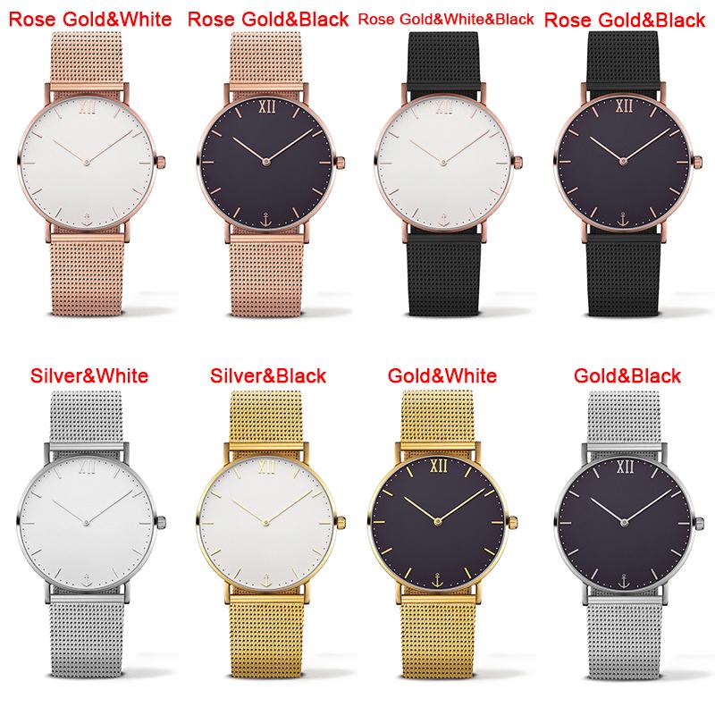 New PAUL HEWITT Brand Women Men Simple Analog Quartz Watches Stainless Steel Wristwatch