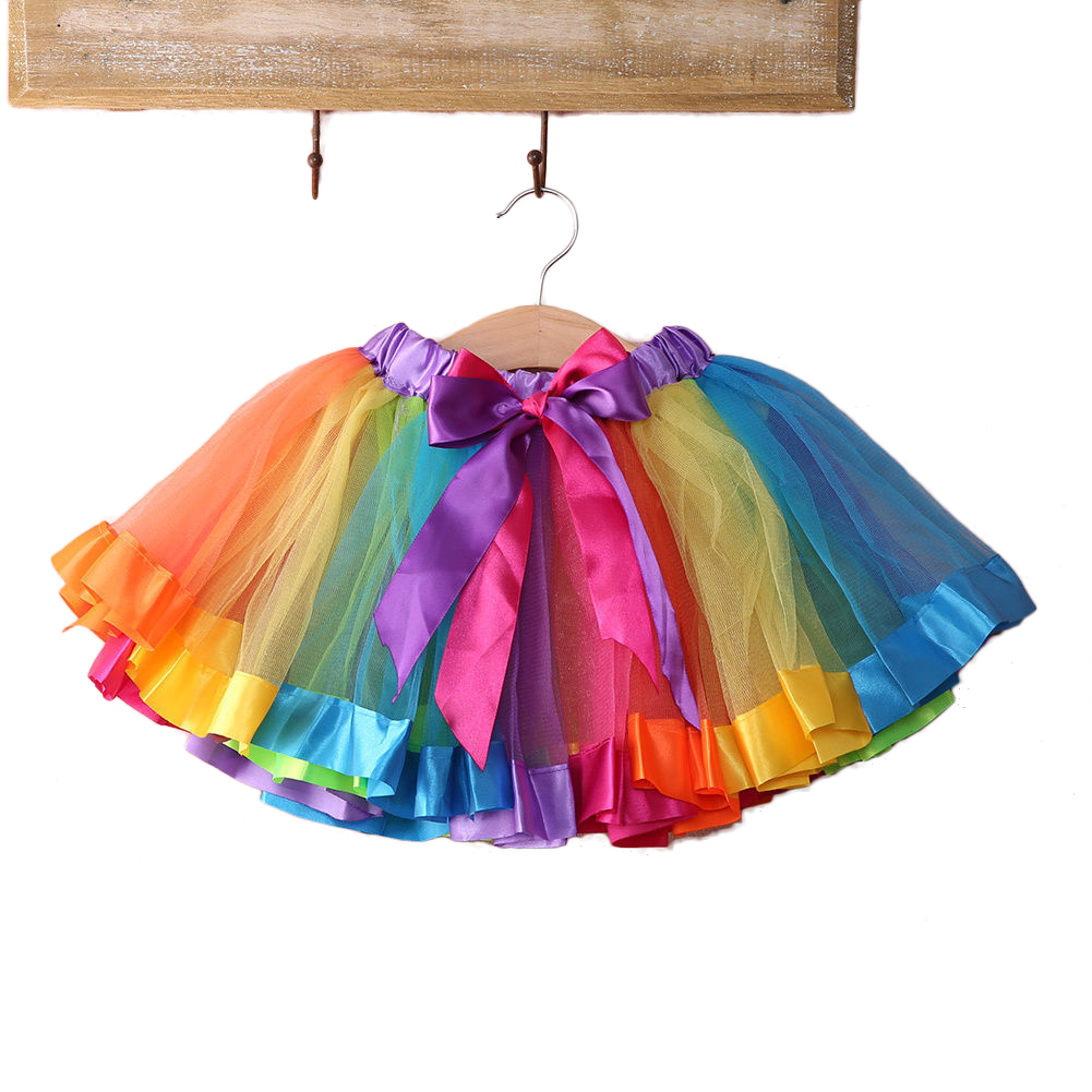 Baby Girls Rainbow Tutu Skirt Party Costume Fancy Tutu Pettiskirt 0-4 Months