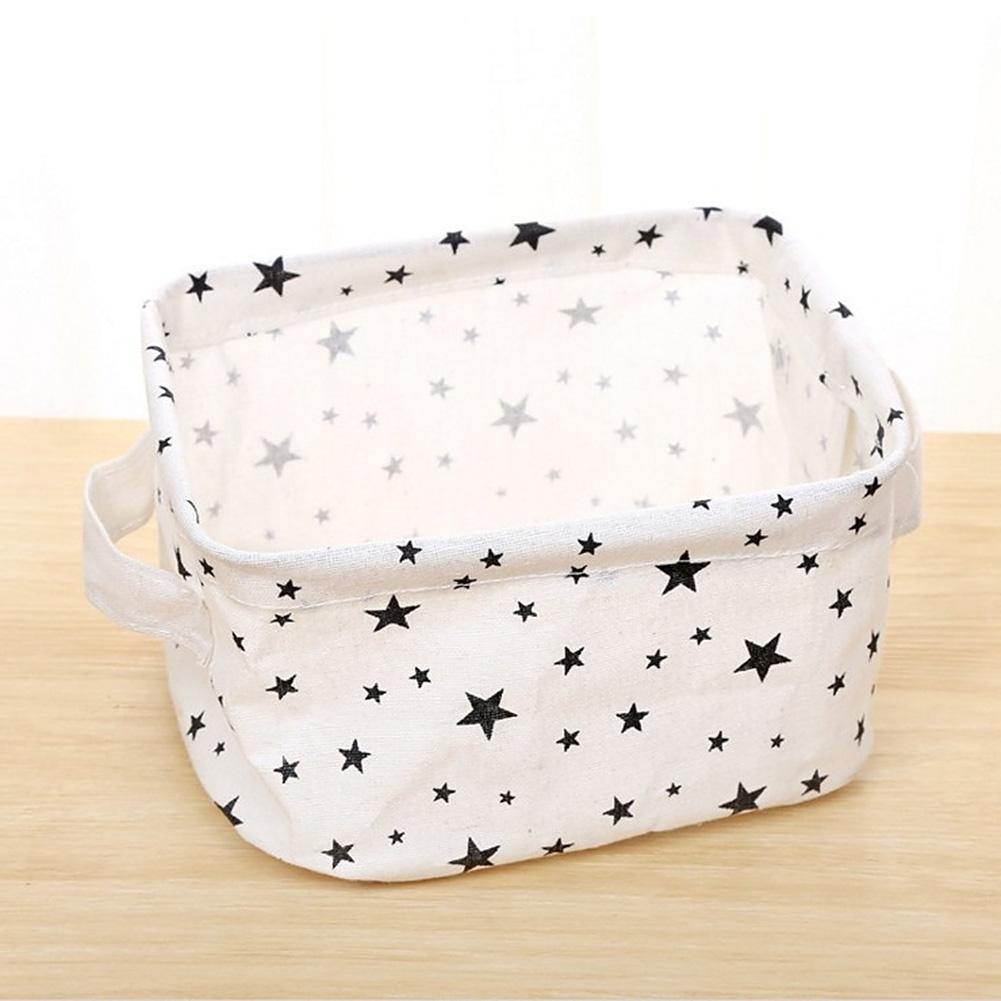 Simplicity White&Black Linen Desk Storage Box Holder Jewelry Cosmetic Stationery Organizer Case