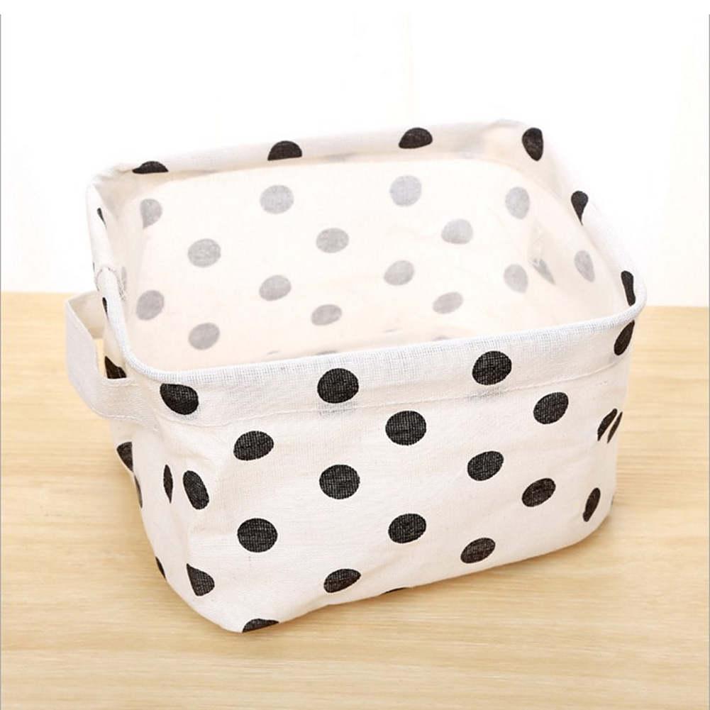 Simplicity White&Black Linen Desk Storage Box Holder Jewelry Cosmetic Stationery Organizer Case