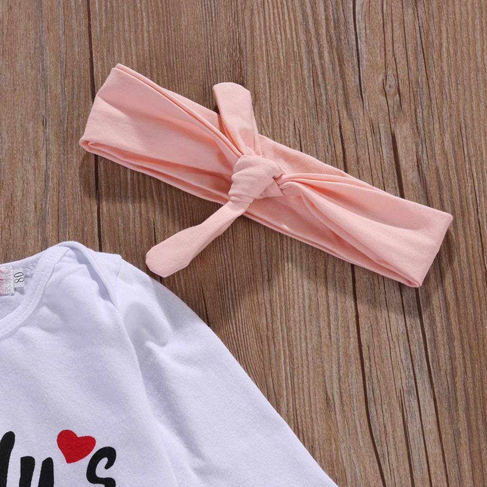 3PCS Newborn Infant Baby Girls Clothes Playsuit Romper Pants Bodysuit Outfit Set