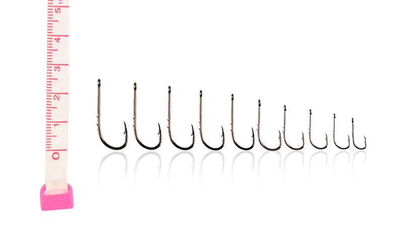 Durable 50Pcs 10 Size Assorted Fishing Sharpened Hook Tackle Lure Bait Set