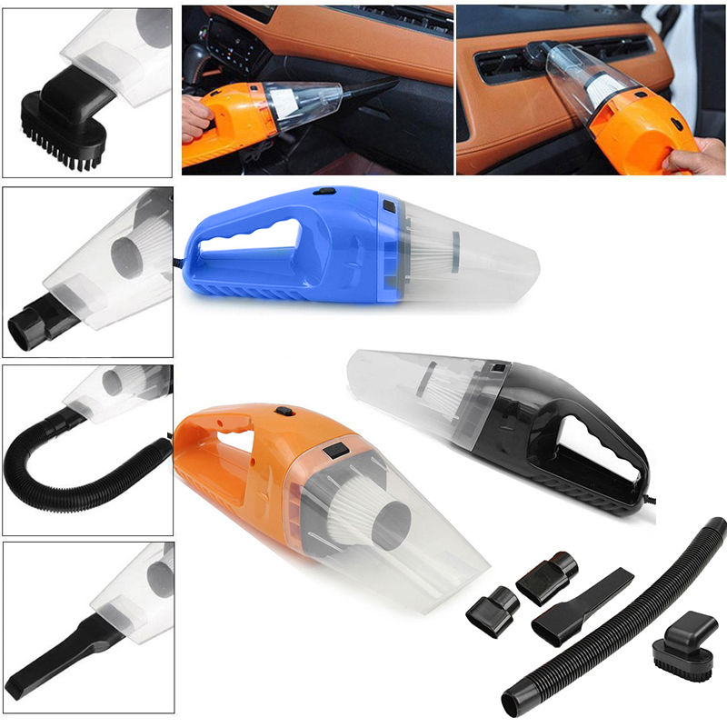 Portable 12V 120W Dust Auto Vehicle Car Handheld Vacuum Dirt Cleaner Wet & Dry 4 In 1 Tool