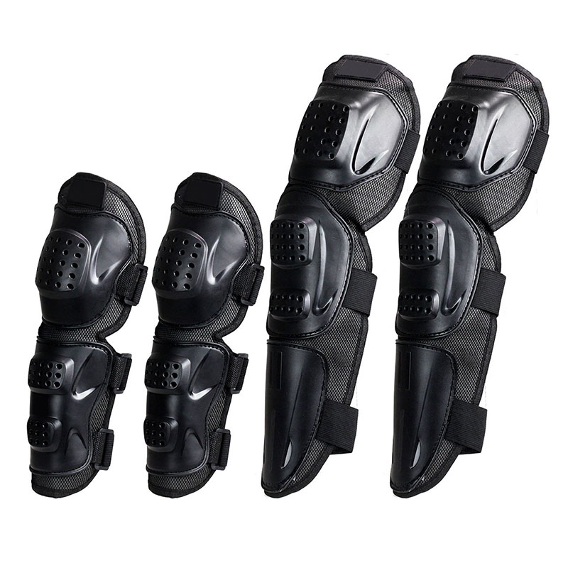 4Pcs Kit Adult Elbow Knee Shin Armor Guard Pads for Motorcycle Bike Tool