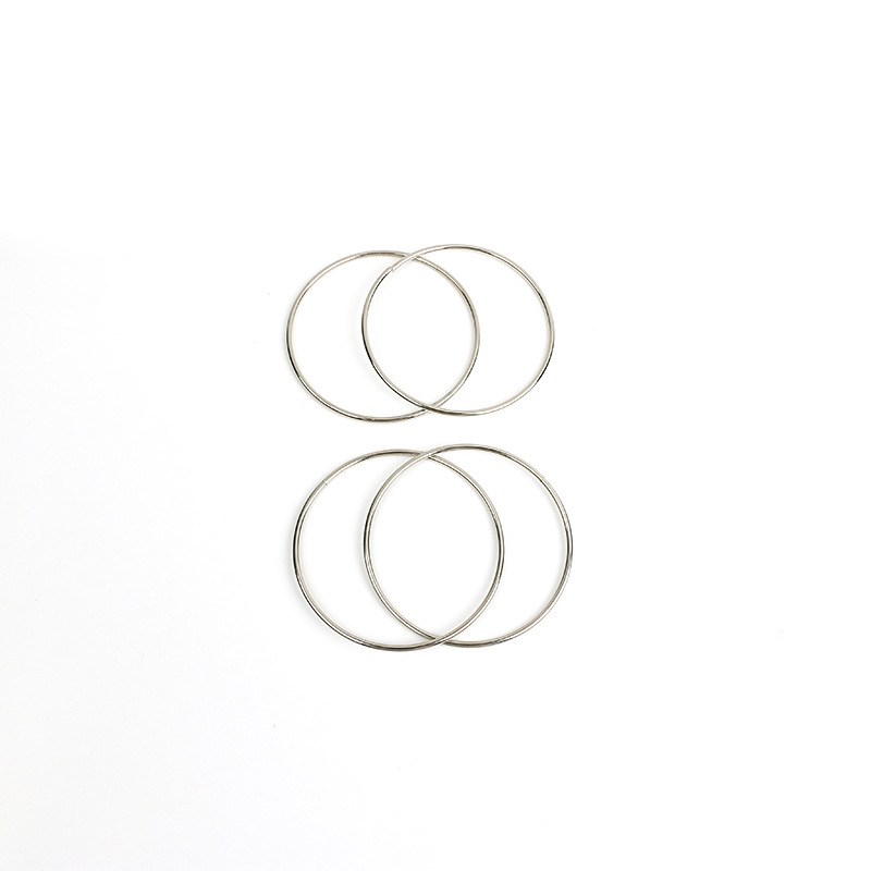 4Pcs Stage Close Up Magic Chinese Linking Rings Set Lock Party Trick Show Toys