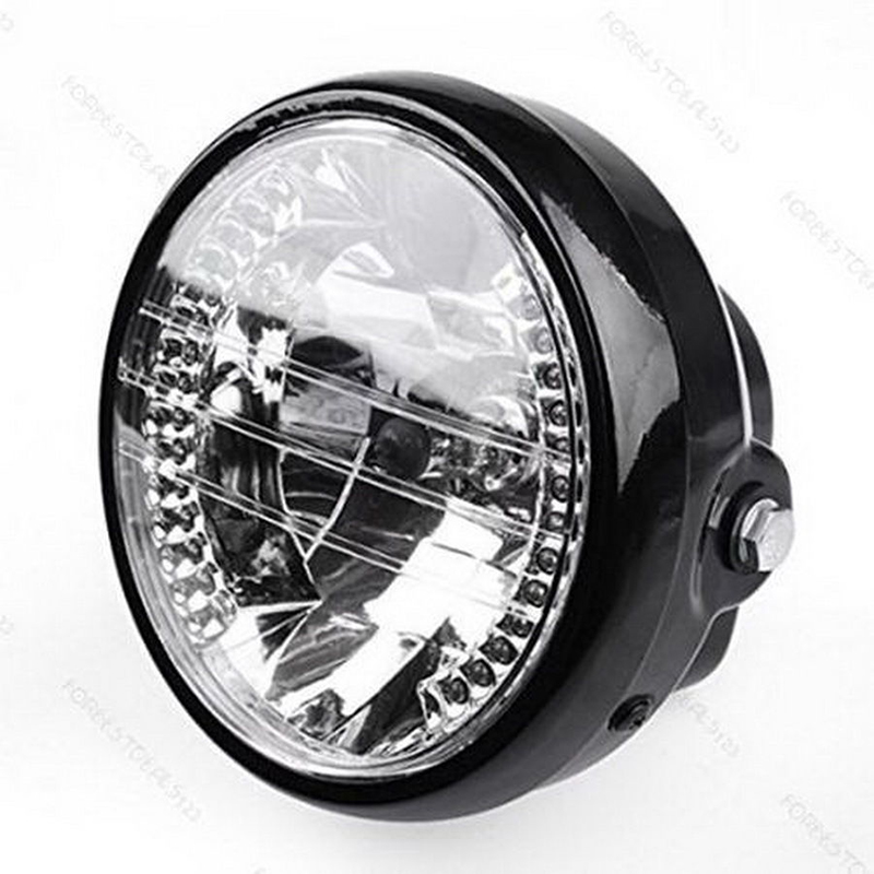 "Hot 7"" Motorcycle Bike Headlight LED Turn Signal Light Black Bracket Mount"