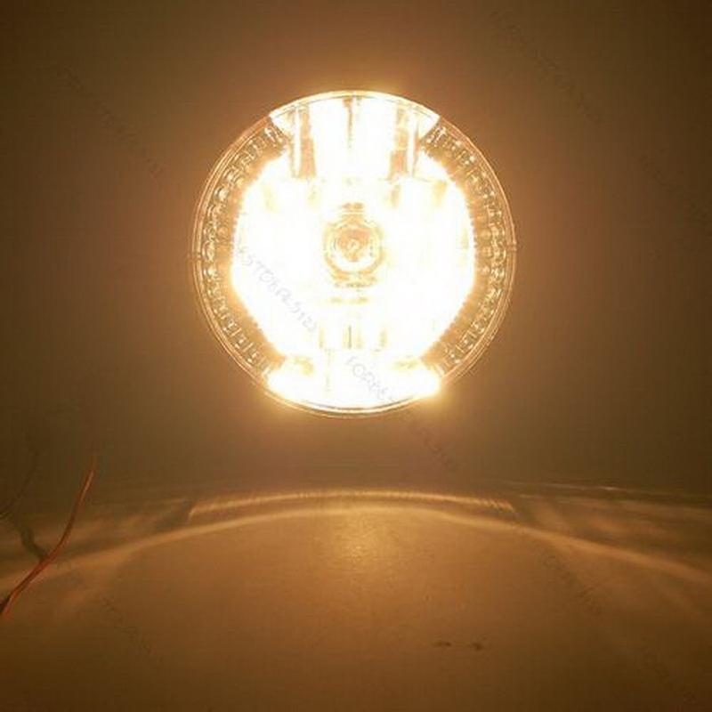 "Hot 7"" Motorcycle Bike Headlight LED Turn Signal Light Black Bracket Mount"
