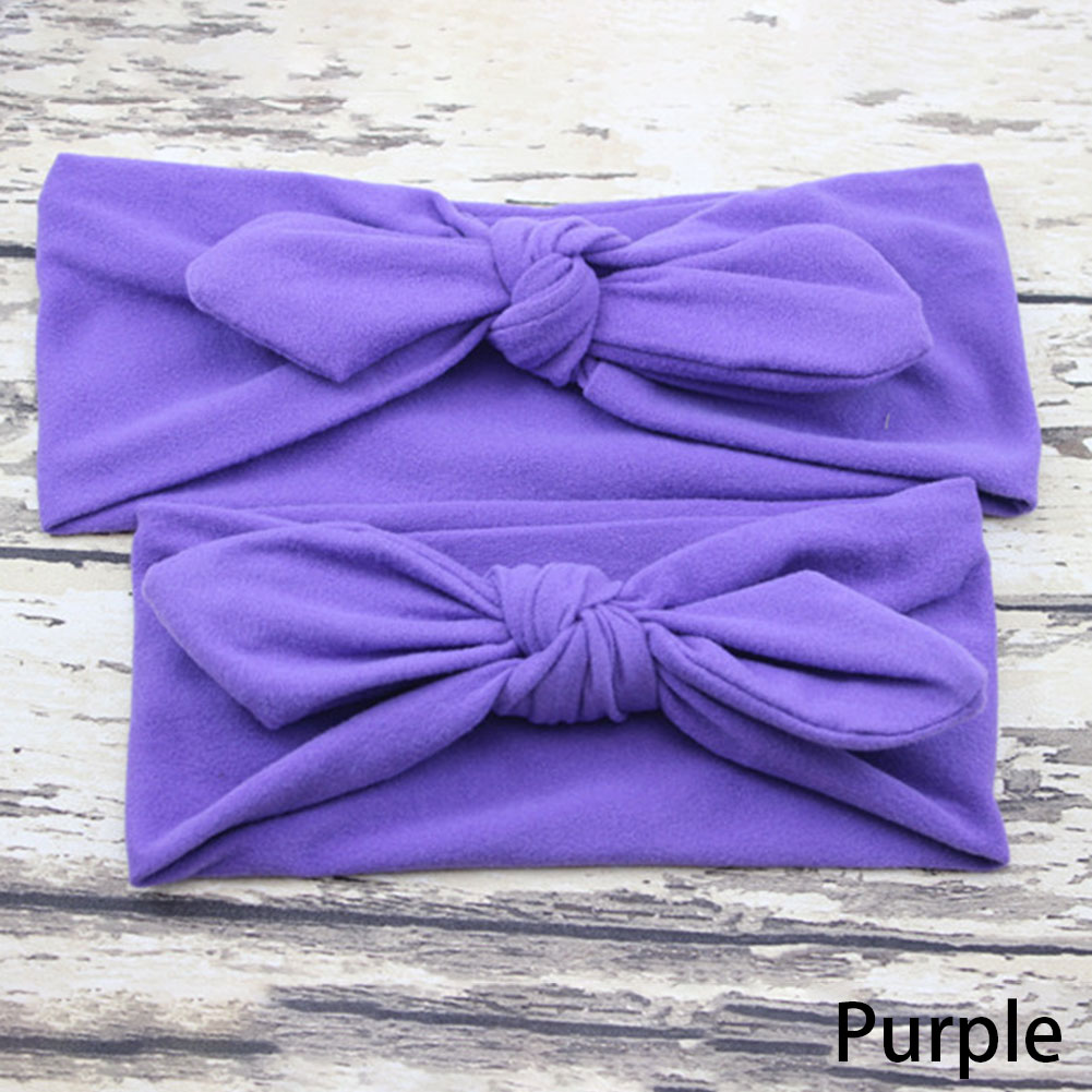 Children Headband Hair Head Band Bow Knot Headbands Baby Hair Accessories Turban baby and Mommy Cotton Headwrap