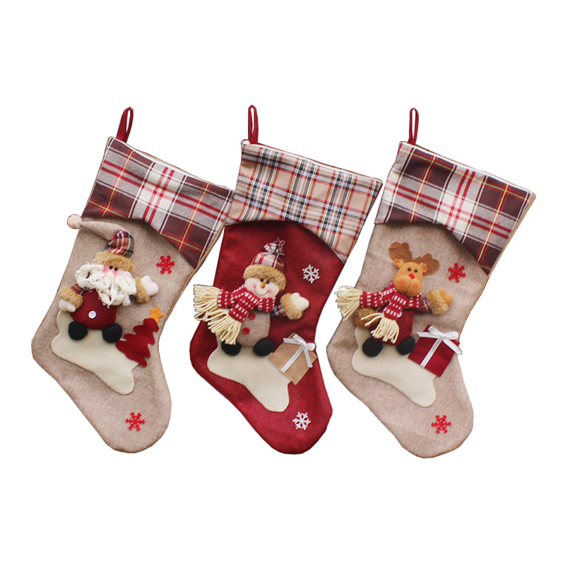 Christmas Socks Santa Claus Christmas Stocking Knifes Folks Bag Candy Gifts Bag