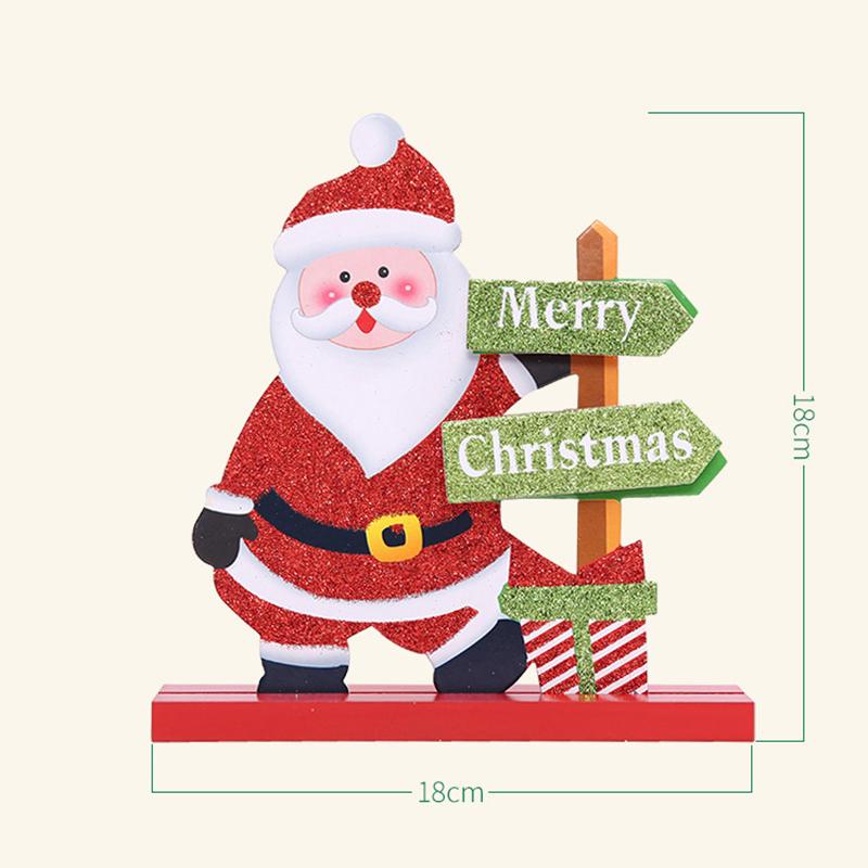 Christmas Decoration Wooden Christmas Santa Claus Snowman Elk Gift