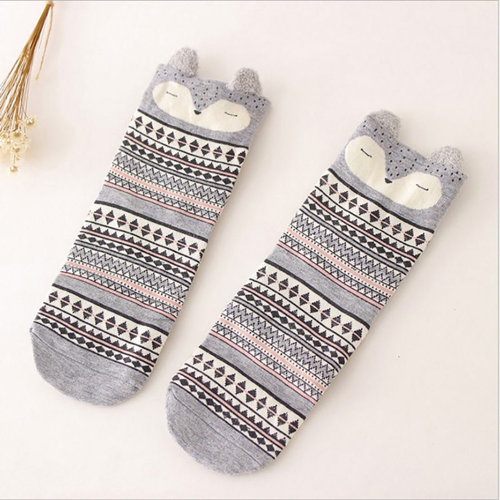 Cute Women's Lovely 3D Cartoon Cotton Warm Soft Sox Animal Zoo Women Socks Ladies Girls