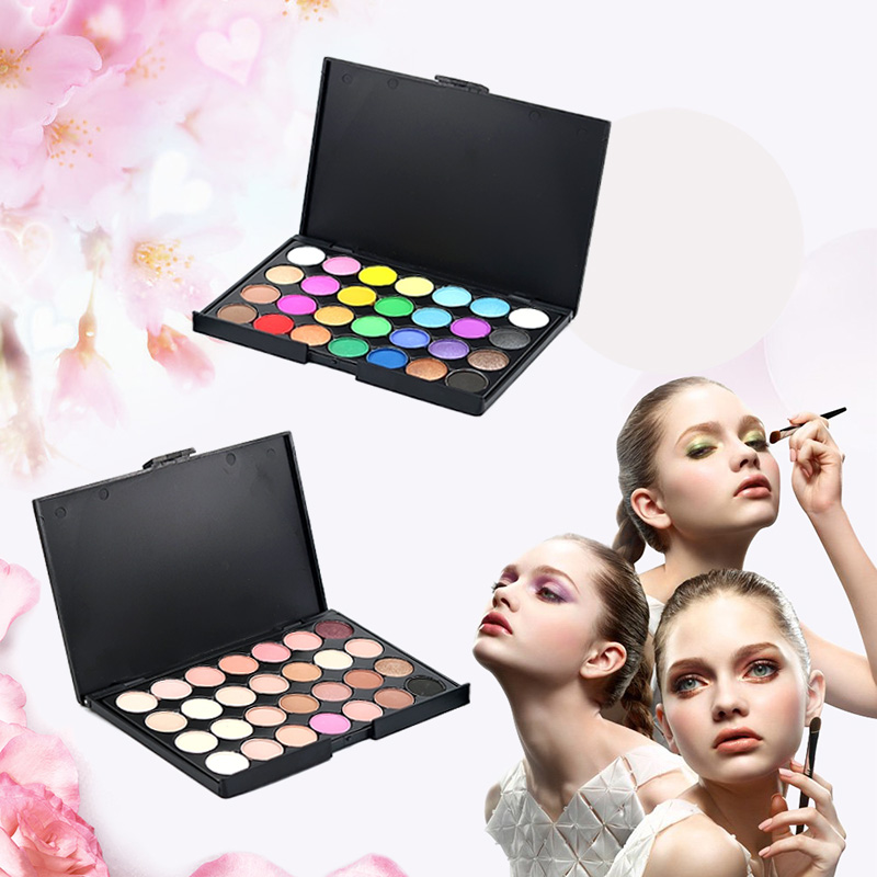 Pro Makeup Base Natural 28 Colors Ultra Shimmer Long Lasting Eyeshadow Palette
