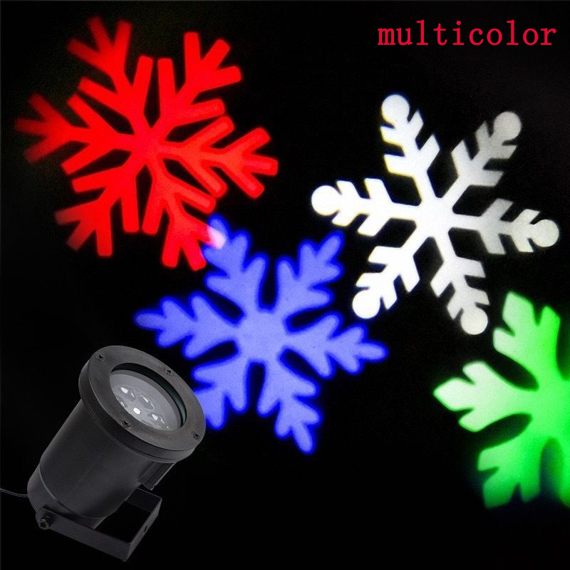 LED Laser Star Snowflake Christmas Home Garden Light Shower Outdoor Decoration