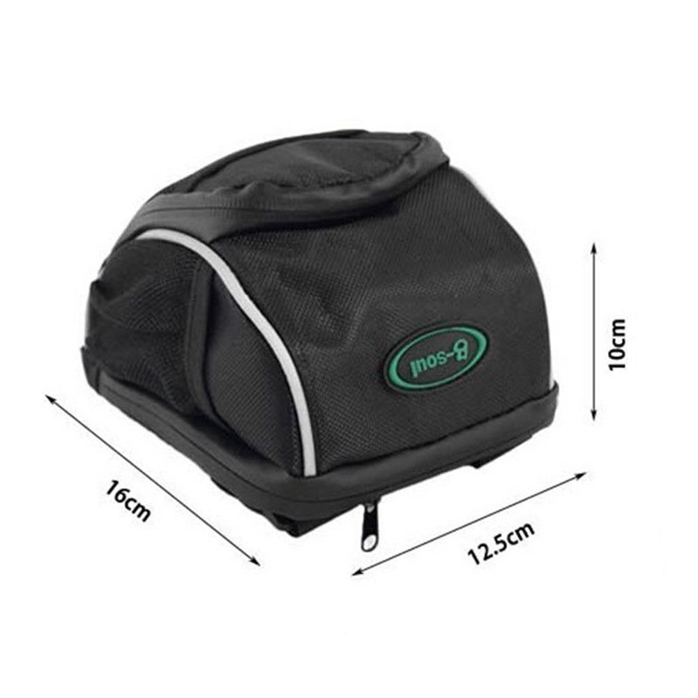 Bicycle Handlebar Bag Bike Front Basket With Rain Cover Cycling Bags Waist Pack Backpack