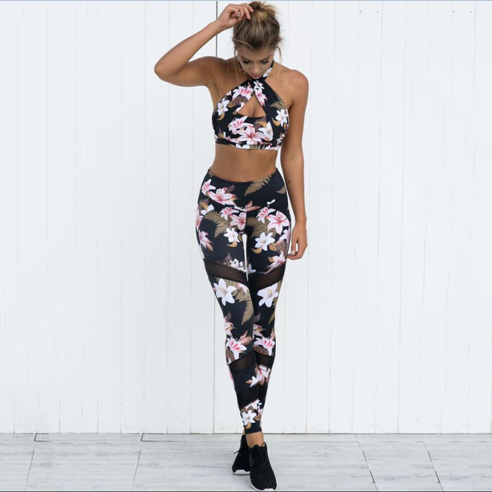 Sexy Women's Yoga Leggings Workout Gym Fitness Pants Jumpsuit Athletic Sports Clothes