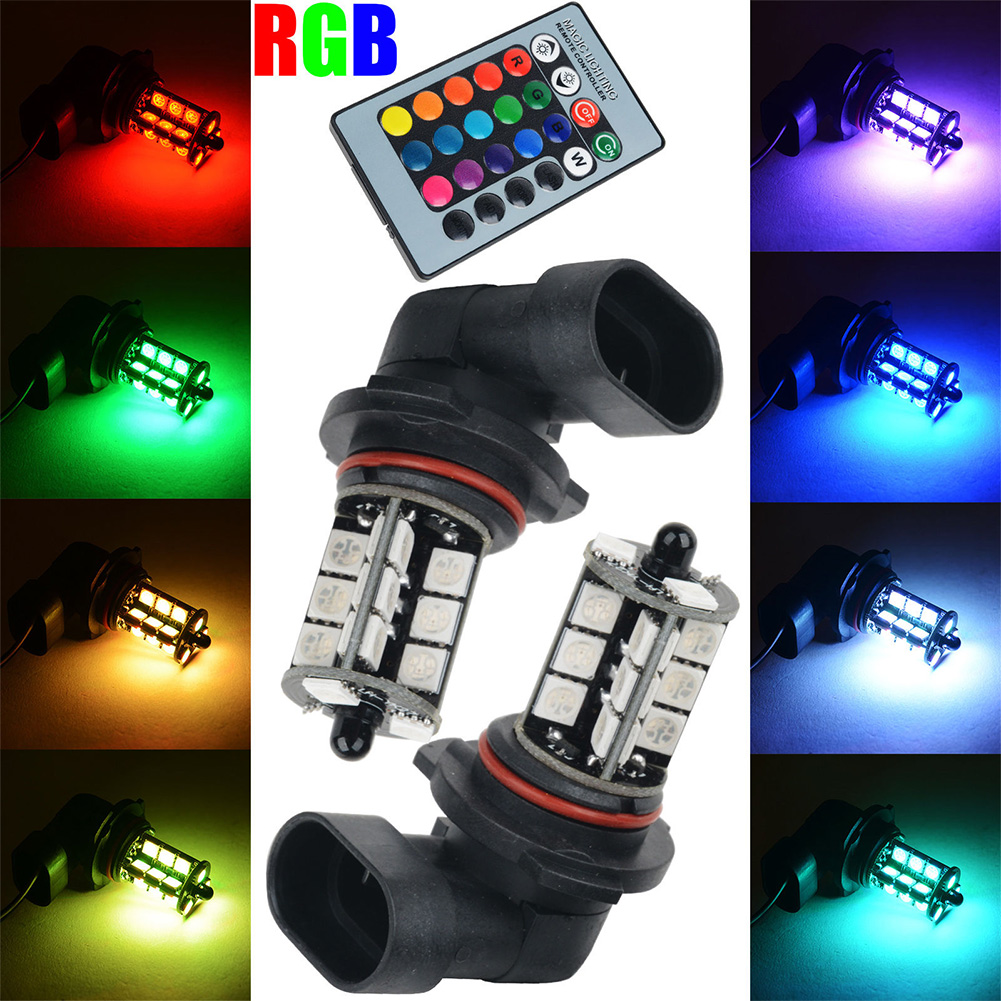 RGB 27LED Colorful H4/H11/9005/9006/H7 Car Remote Control Fog Lights Car Light