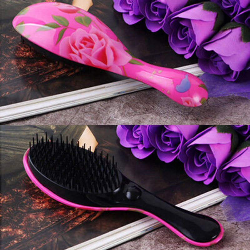 Auto Hair Straightener Comb Brush Electric Hair Massager Anti-Scald Tool