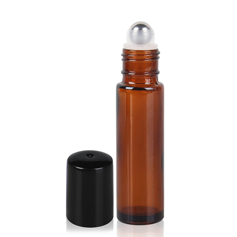 10ml Glass Steel Metal Ball Roller Perfume Essential Aromatherapy Oil Bottle