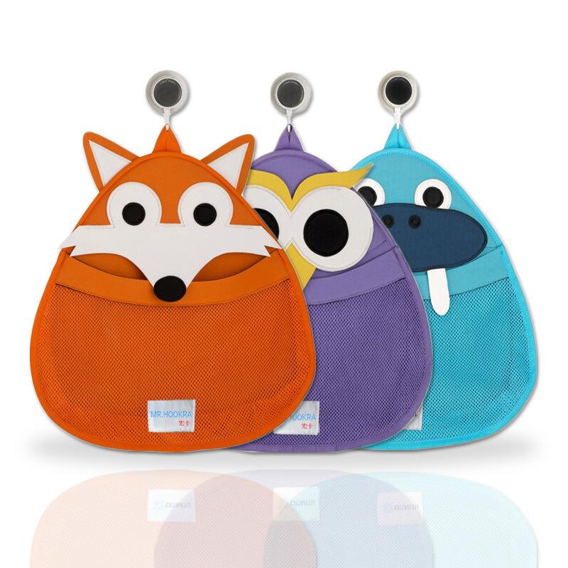 Baby Bath Storage Bag Cute Baby Shower Bath Net Bag Children Cartoon Storage Bag