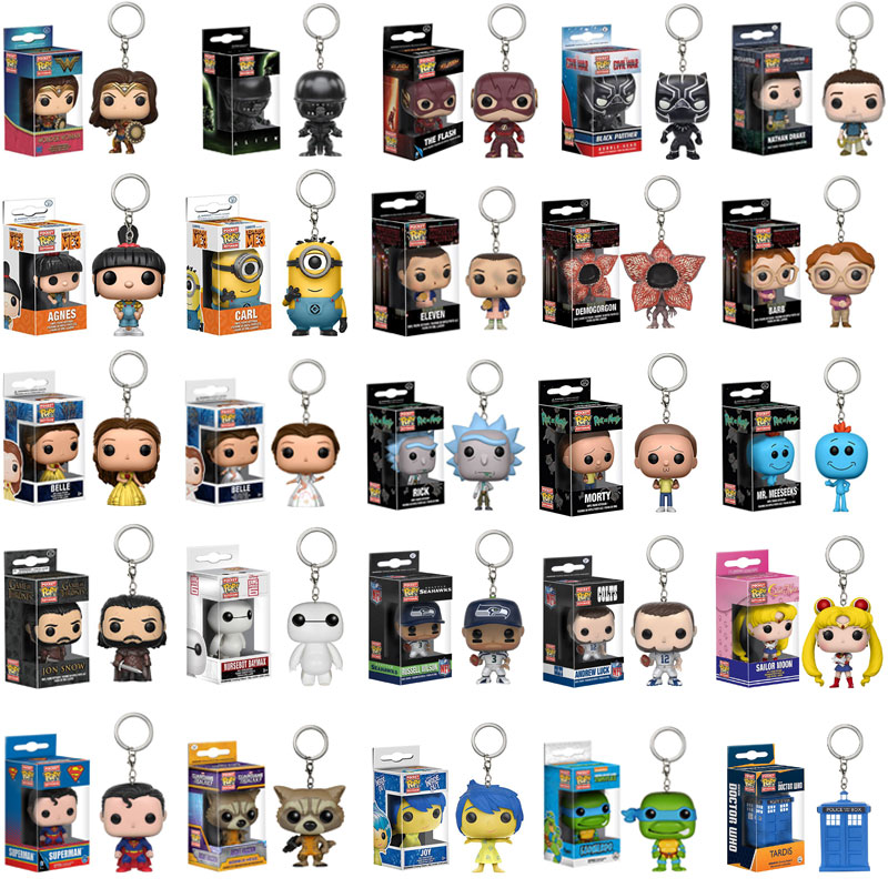 FUNKO POP  New arrival  Marvel Keychain Spider Chivalrous U.S.A Captain  Harry potter  Key Chains  with box