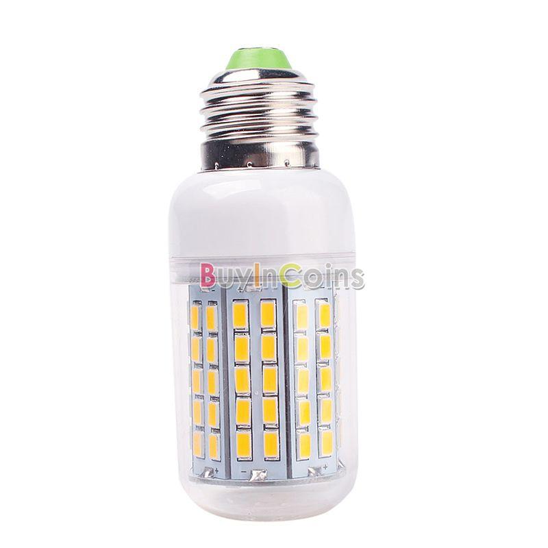 E27 30W 96 LED 5730 SMD Cover Corn Spot Light Lamp Bulb Warm Cool White 220-240V