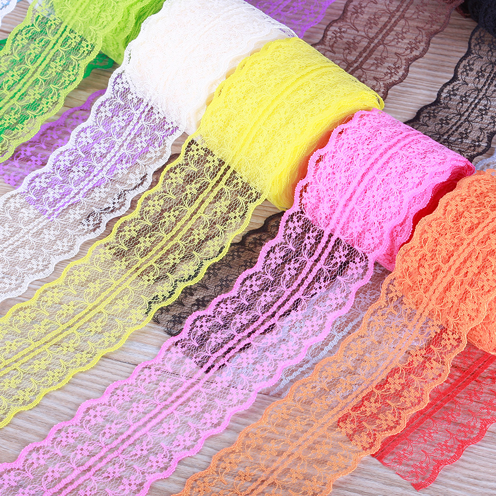 Beautiful 4.5CM 10 Yards Retro Embroidered Lace Trim Ribbon DIY Craft Sewing Decor