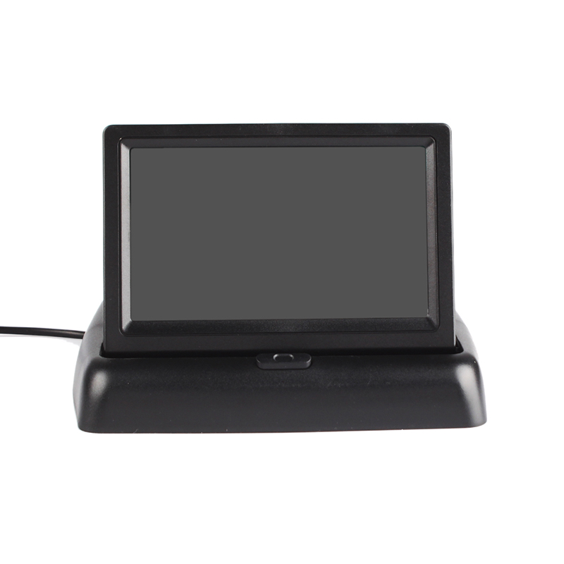 Foldable 4.3 High Resolution TFT LCD Monitor Screen + Car Backup Rearview Camera