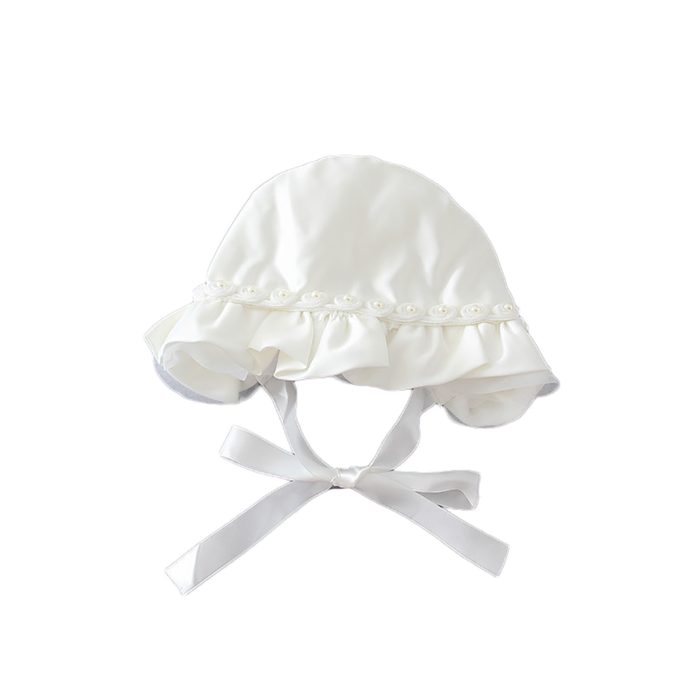 Newborn Baby Girl Cute white princess hat Girl Headwear