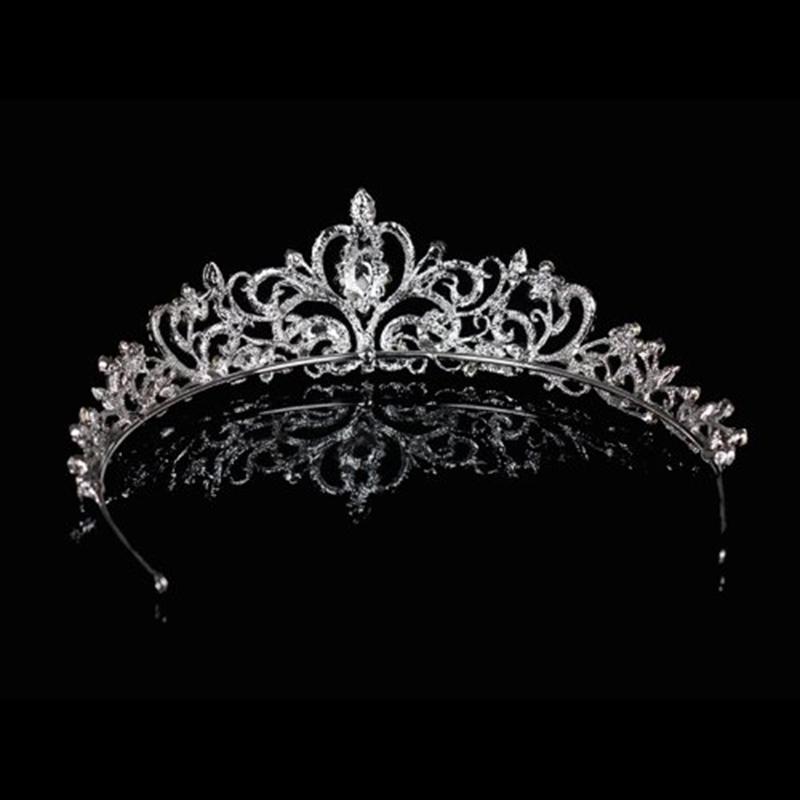 Wedding Prom Engagement Party Bridal Bridesmaid Flower Rhinestone Crown Tiara