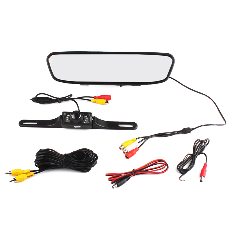 4.3 Inch TFT LCD Car Parking Rearview Monitor + Car Reverse Camera