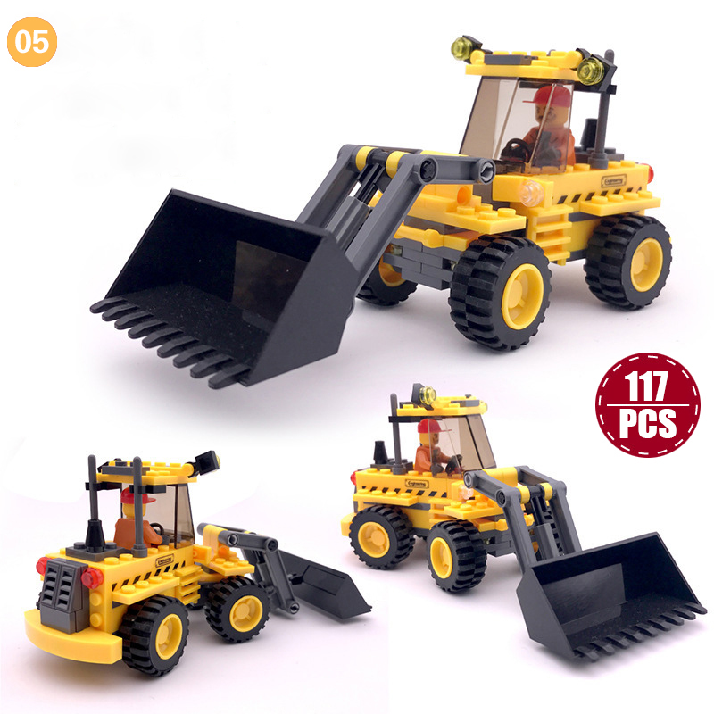 Building Blocks Engineering Car Puzzle Toy for Children Assembly Blocks