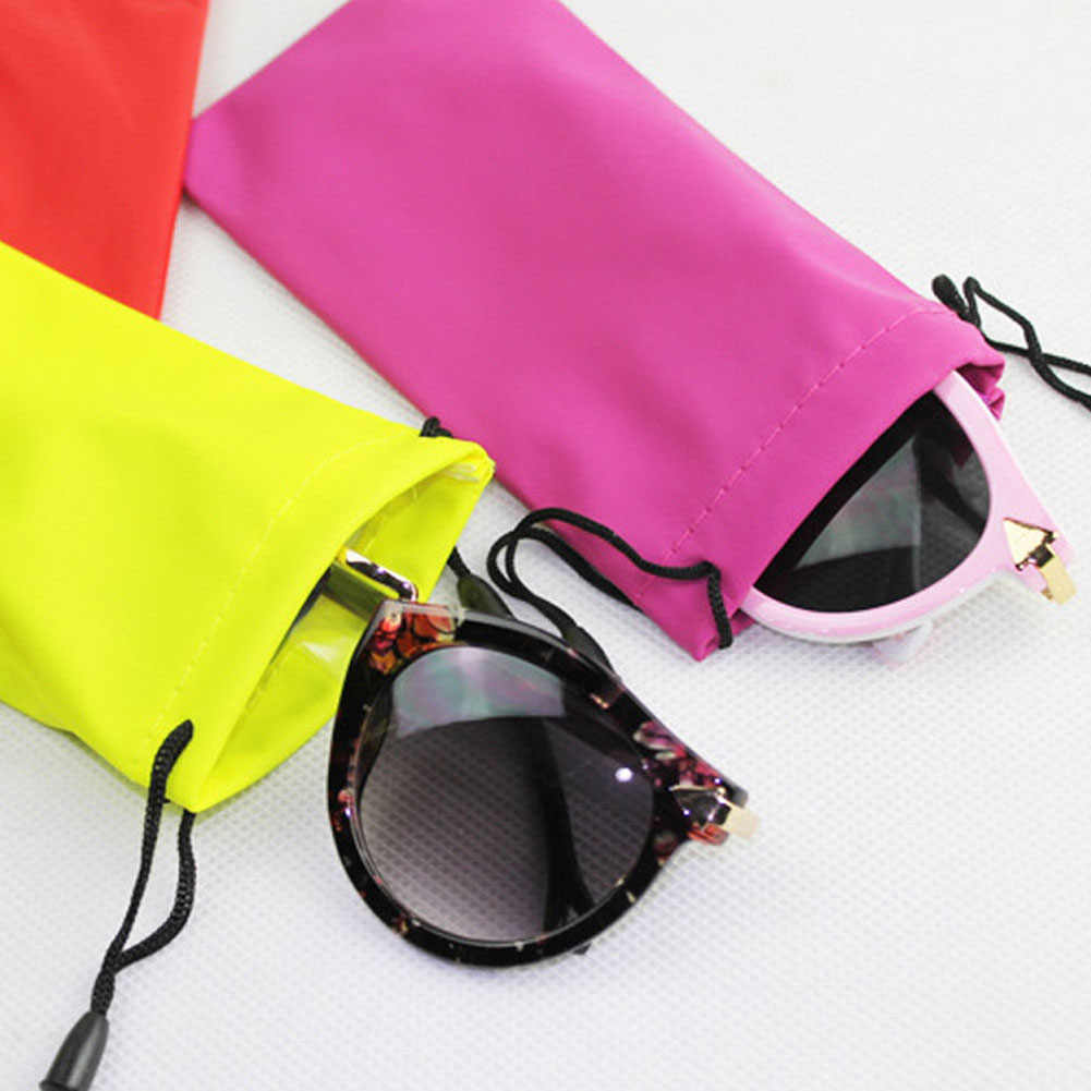1Pcs Microfiber Phone Sunglasses Eyeglasses Pouch Bag Soft Cleaning Case New