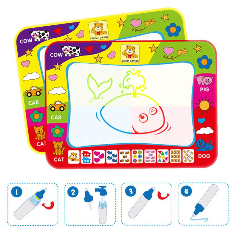 Children Drawing Water Pen Painting Magic Doodle Mat Kids Christmas Gift 29*19CM