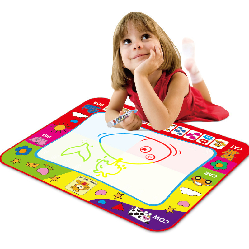 Children Drawing Water Pen Painting Magic Doodle Mat Kids Christmas Gift 29*19CM
