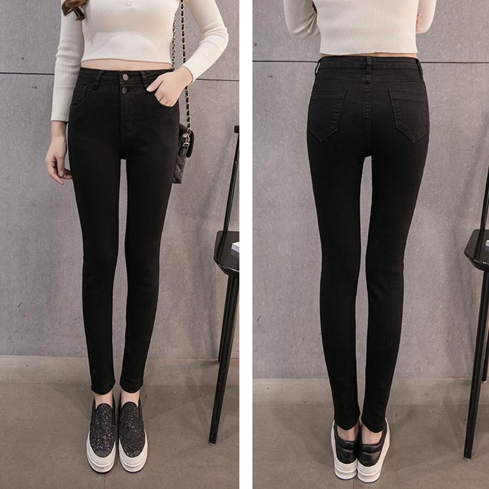 Autumn Women High Waist Jeans Casual Jeans Plus Size Skinny Pencil Pants Casual Skinny Jeans Trousers Slim Women's Pants